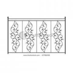 Balcony cast iron grills