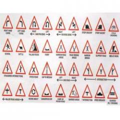 Roads safety signages