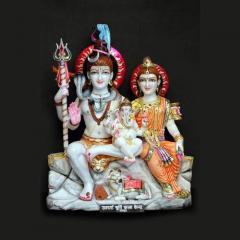 Sitting Shiv Parvati