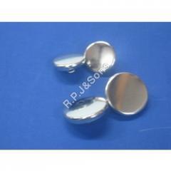 Silver Coat Button