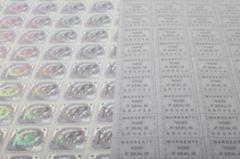 Transparent hologram labels