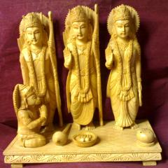 Wooden Ram Darbar Statue