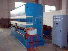 Hydraulic vulcanizing press