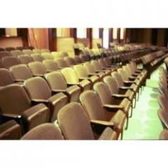 Handle for auditorium seat