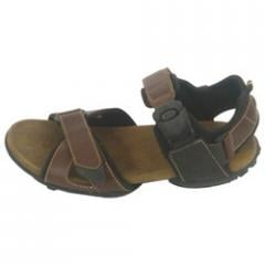Tan Waxy Leather Sandals