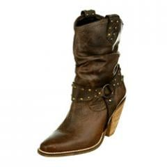Brown Burnish Leather Boots