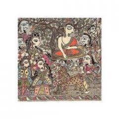India Madhubani Folk Paintings Home Decor Organic