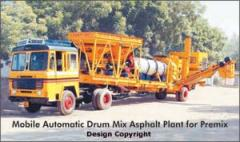 Mobile Automatic Drum Mix Asphalt Plant for Premix