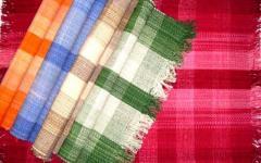 Cotton Check Rug