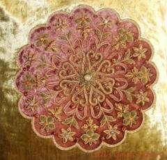 Zari Embroidered Cushion Cover