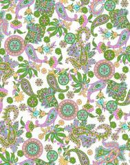 Pigment Zari Print Fabric