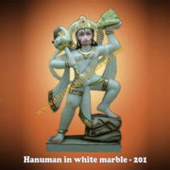 Hanuman in Whit Marble-201