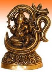 Ganesh Seated Under Om
