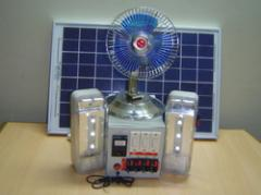 Solar Led Home Light With Fan