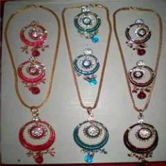 Indian Meenakari Pendant & Earrings Sets