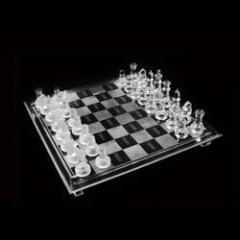 Crystal Chess Set in Velvet Box