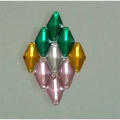 Rhombus Acrylic Beads