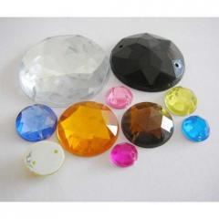 Round Stones Acrylic Beads