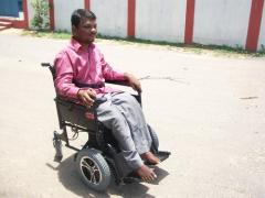 Front wheel Drive Powered Wheelchair Foldable Type