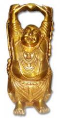 Brass Laughing Buddha Statues