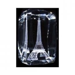 3D Eiffel Tower Crystal Monuments