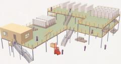 Demount Able Mazzanine Floor System