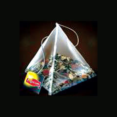 Nylon Pyramid Tea Bags with tag and string