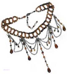Tonal Topaz Hanging Necklace