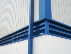 Louvers for inflow ventilation pipes