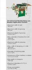262 Universal Woodworking Cum Bamboo