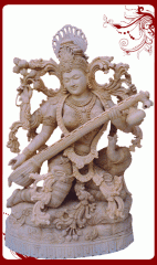 Shivaniwood sitting saraswati,saraswati