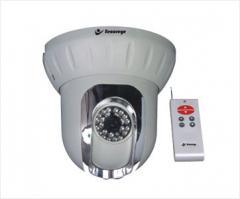 Dome IR Camera Pan/Tilt with Remote
