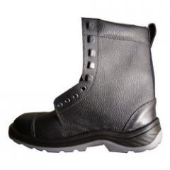 Full Leather Safety Boot With Double Density PU