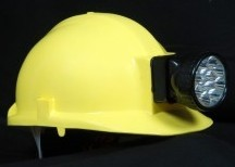 Helmet With Rechargeable Torch