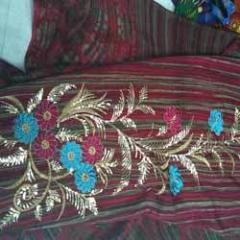 Hand Work Embroidery Fabric