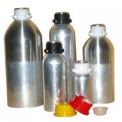 Aluminum Bottles with Plastic Collar