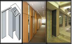 Fixed and movable acoustic partitions