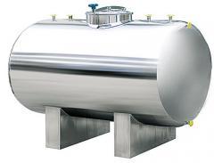 Horizontal steel tanks