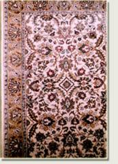 Handmade tufted woollen carpet