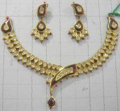 Kundan Meena necklace