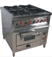 Four Burner Range With Pizza Oven