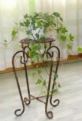 Wrought iron stands for flowers