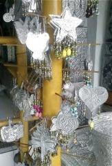 Christmas-tree decorations, glass