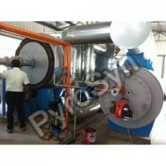 Semi continuous tyre pyrolysis plant