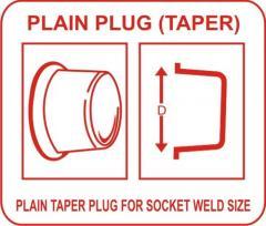 Plain Taper Plug for Socket Weld Size