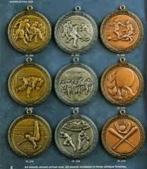 Silver sport medals