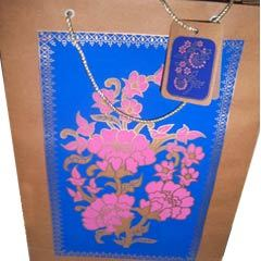 Handmade paper shopping bags