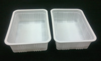 Rectangle Container (250 Gm Milky Colour)
