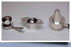 Silverware tea strainers