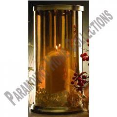 Glass Hurricane Candle Lamp
